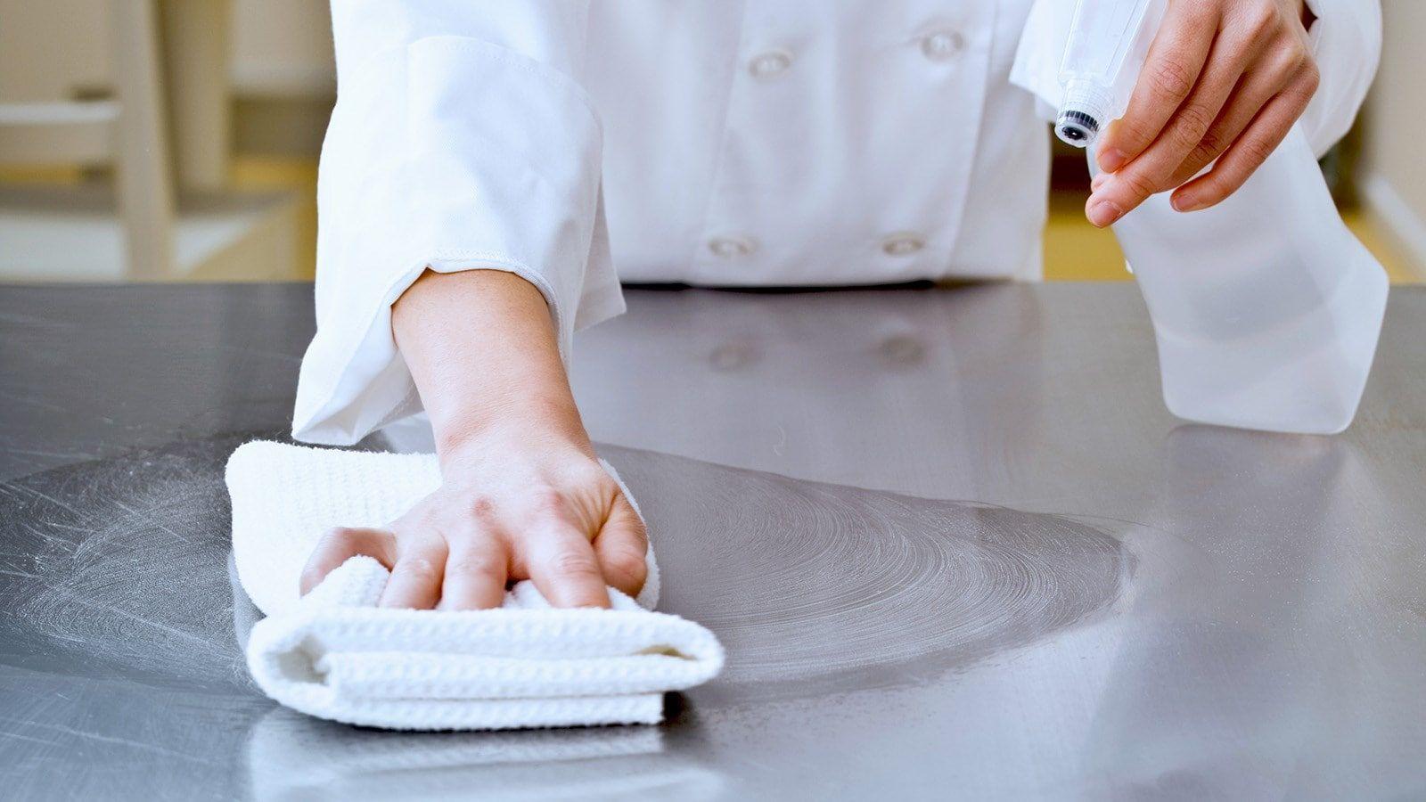 Дезинфекции посуды и мебели в общепите