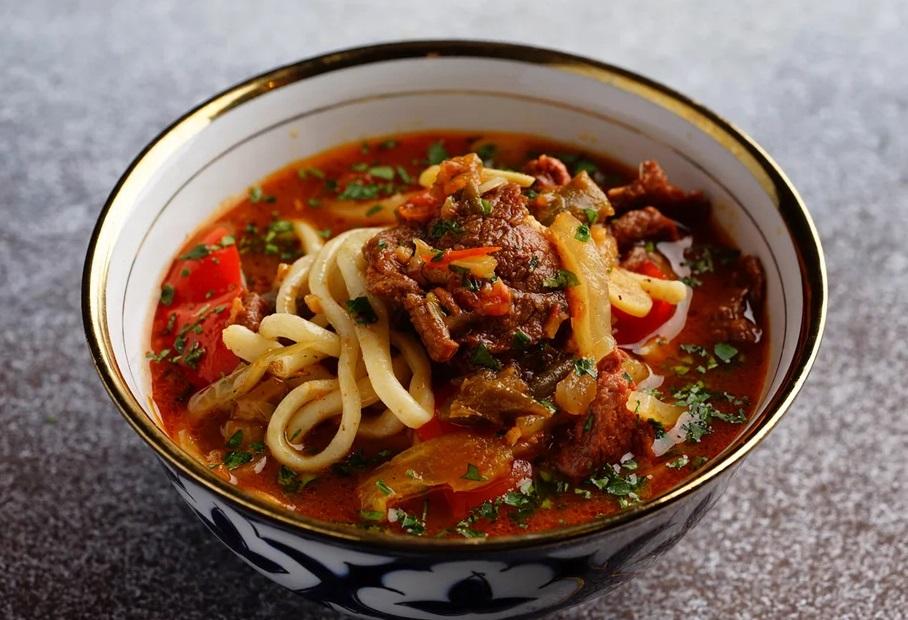 Лагман в узбекской кухни