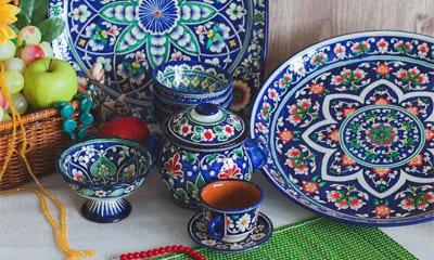 Узбекская посуда из керамики