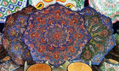 Орнамент на узбекской посуде