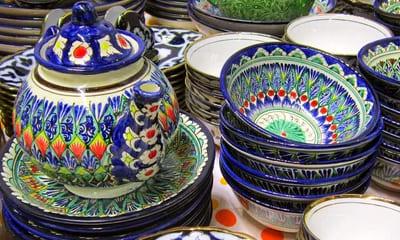 Виды узбекской посуды